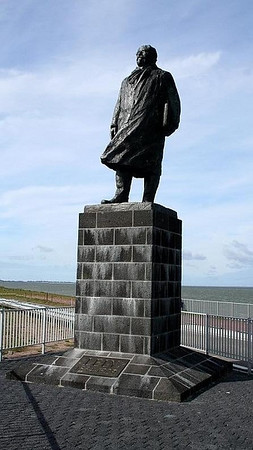 Cornelis Lely the man who planned the Afsluitdijk. Unfortunately he died 2 years before it was completed.