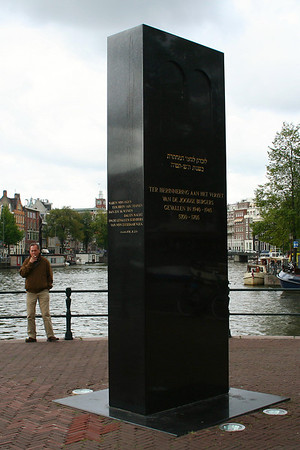 Monument to Jewish Resistance - Sadly, the majority of the Jewish people of Amsterdam did not return from the concentration camps.