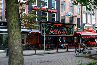 Smokey Coffee Shop under the Rembrandt Square Hotel