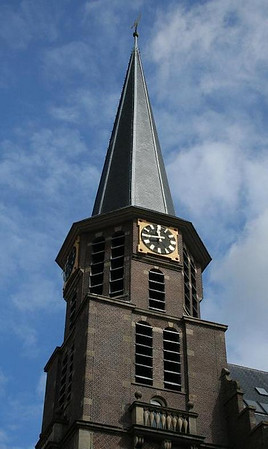 The Grote Kerk (Great Church) was built in 1881-1883 after a predecessor had burned down in 1879. The church was designed by architect C Muysken and is in neo-Renaissance style. It's no longer in use as a church,
