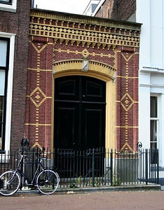 I love the brick design in this entrance.