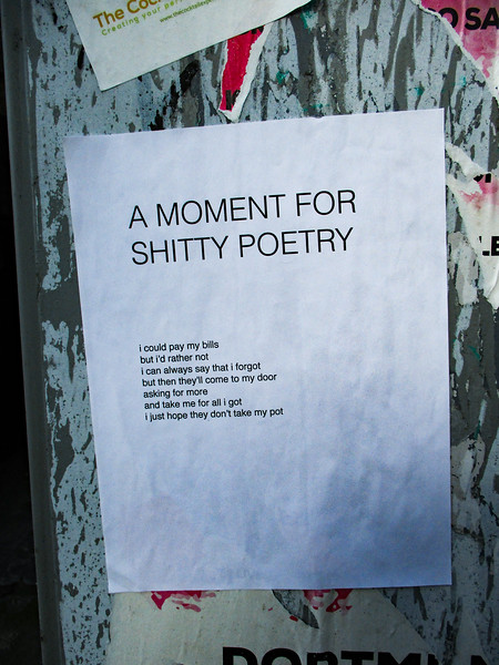shitty poetry FTW.