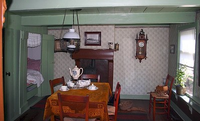 Inside one of the old Dutch houses at the Zuiderzeemuseum.