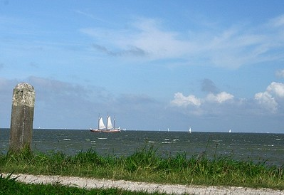 Ship on the IJsselmeer.