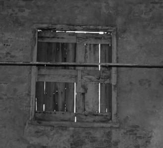 Old window inside the limekiln.