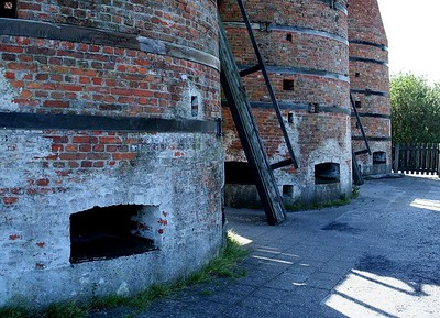 The base of the hugh lime ovens.