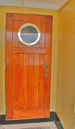 One of the doors on the Friesland - a beautiful boat.