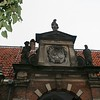 Top of doorway to Frans Hals Museum. It was built in the 17th century as an almshouse for old men.