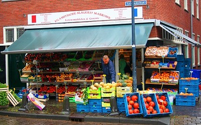 Colourful Turkish Fruit Shop in Haarlem.