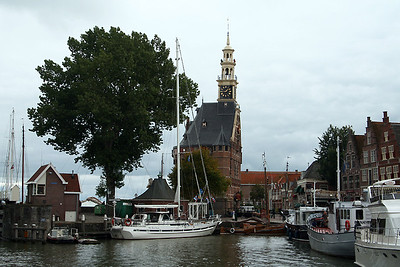 The Hoofdtoren located on the Hoorn harbour.