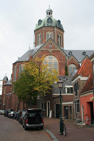 View of the church from the rear street.