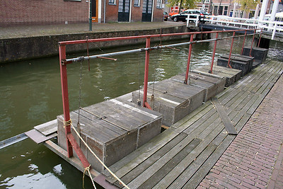 Fish traps in Hoorn canal