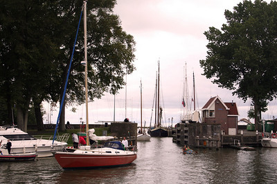 Inner Port at Hoorn - we watched the boats sailing through the gate - spot the kids mixing it with the boats.