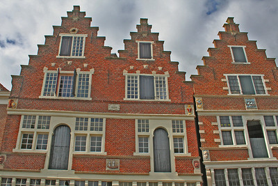 Typical Dutch architecture overlooking the inner harbour.
