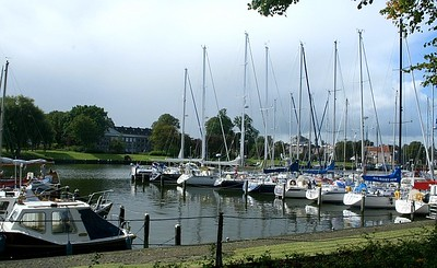 Part of the marina at Medemblik.