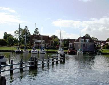 Part of the Medemblik marina.