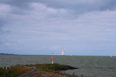Looking from Radboud Castle to the wind molens on the IJsselmeer.