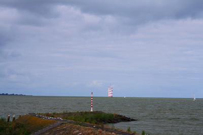 Looking from Radboud Castle to the wind molens on the IJsselmeer.