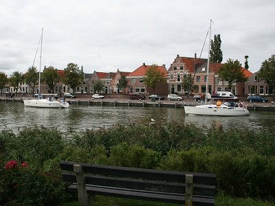 Enjoying the view across from Radboud Castle.  This is the entrance into Medemblik Harbour.