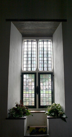 One of the windows in the Knight's Hall