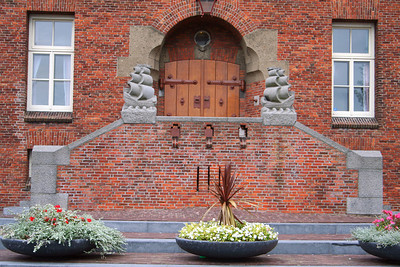 Entrance to the Medemblik Town Hall - this Town Hall is still in use today.