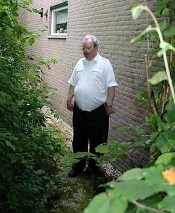 Jan in his garden at Mijdrecht.