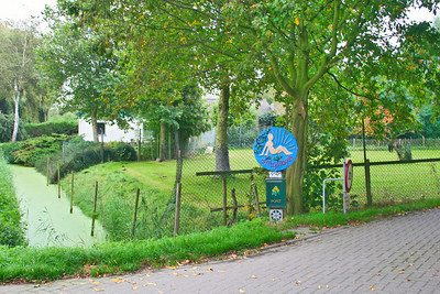 De Vrije Vogels - The Free Birds - entrance to a nudist resort.