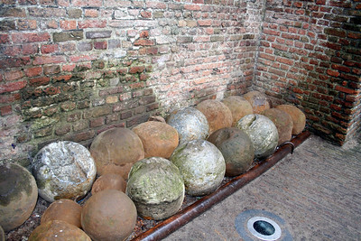 Cannonballs in the courtyard