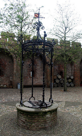 Ancient well in the castle grounds.