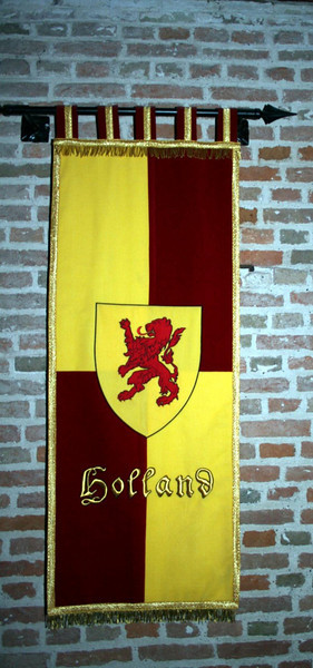 The banner of Holland - I can just see them carrying it on horses, riding into battle .....