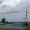 This sailing boat was in the Muiden Harbour - this is as close as I could get.