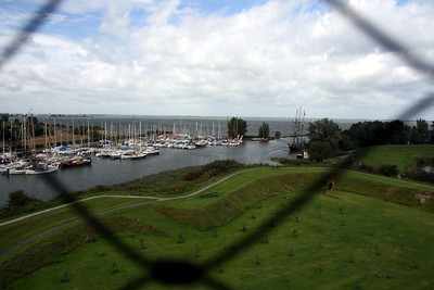 I like this view of the Muiden Marina and the castle grounds.