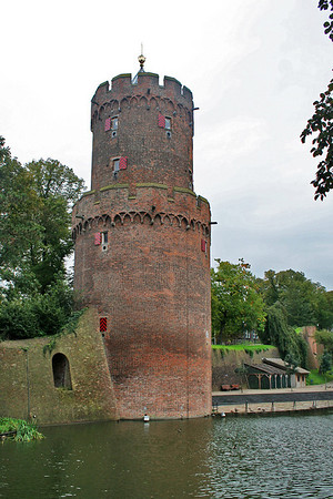 Old tower - the ruins of a medieval castle, Nijmegen, Holland