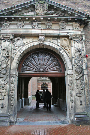 Entrance to a small courtyard in old Town Hall