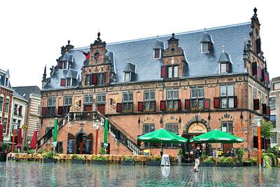 De Waag, Grote Markt in the rain.