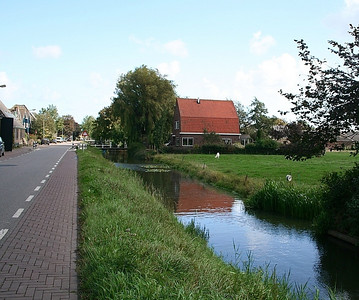 The road through Oostwoud.