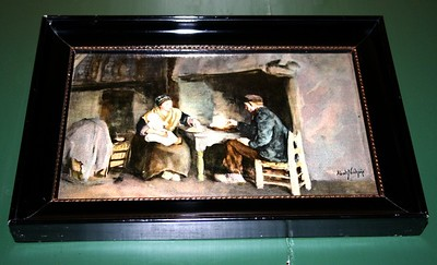 Old painting hanging in the mill.