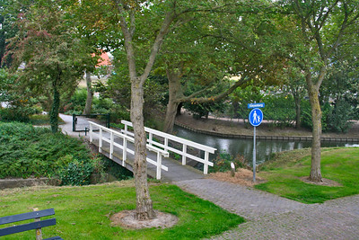 Little bridge over a canal - the view is so diffent from a train.