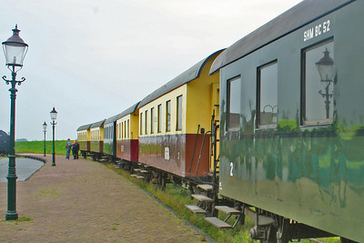 Carriages waiting for an engine