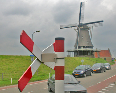 We pass by a windmill