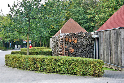Storing wood for the winter at Vaalersberg.
