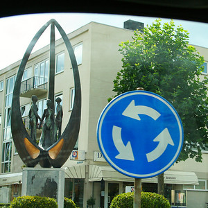 We passed this sculpture in the centre of a roundabout on the way from Monschau to Vaalserberg - I think it was in Vaals.