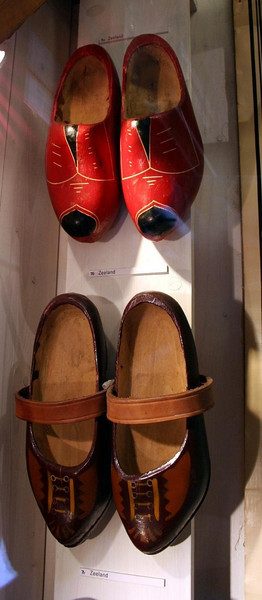 Clogs on display in the museum