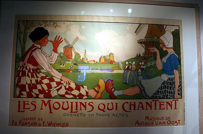 Quaint poster in the clog museum