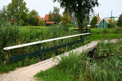 Little foot bridge over a canal