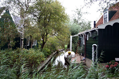 Canal running between the houses
