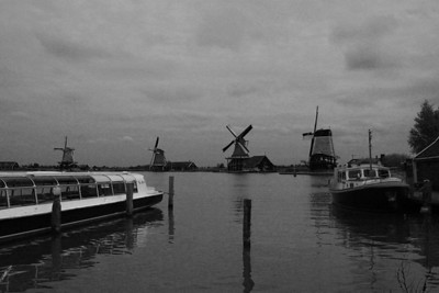 Looking up the river Zaan at the windmills from left to right: Het Jonge Schaap(the young sheep), De Zoeker(the seeker), De Kat(de cat), De Gekroonde Poelenburg(the crowned poelenburg).  I used an infrared filter on this one.