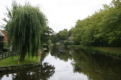 Looking down the canal - that is a nest in the centre