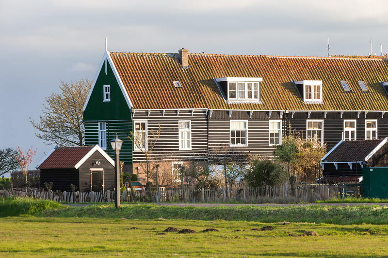 Houses of Marken village, Netherlands