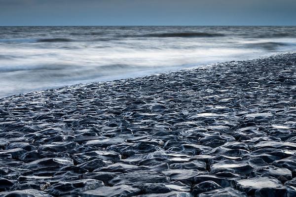 North sea and rocky beach